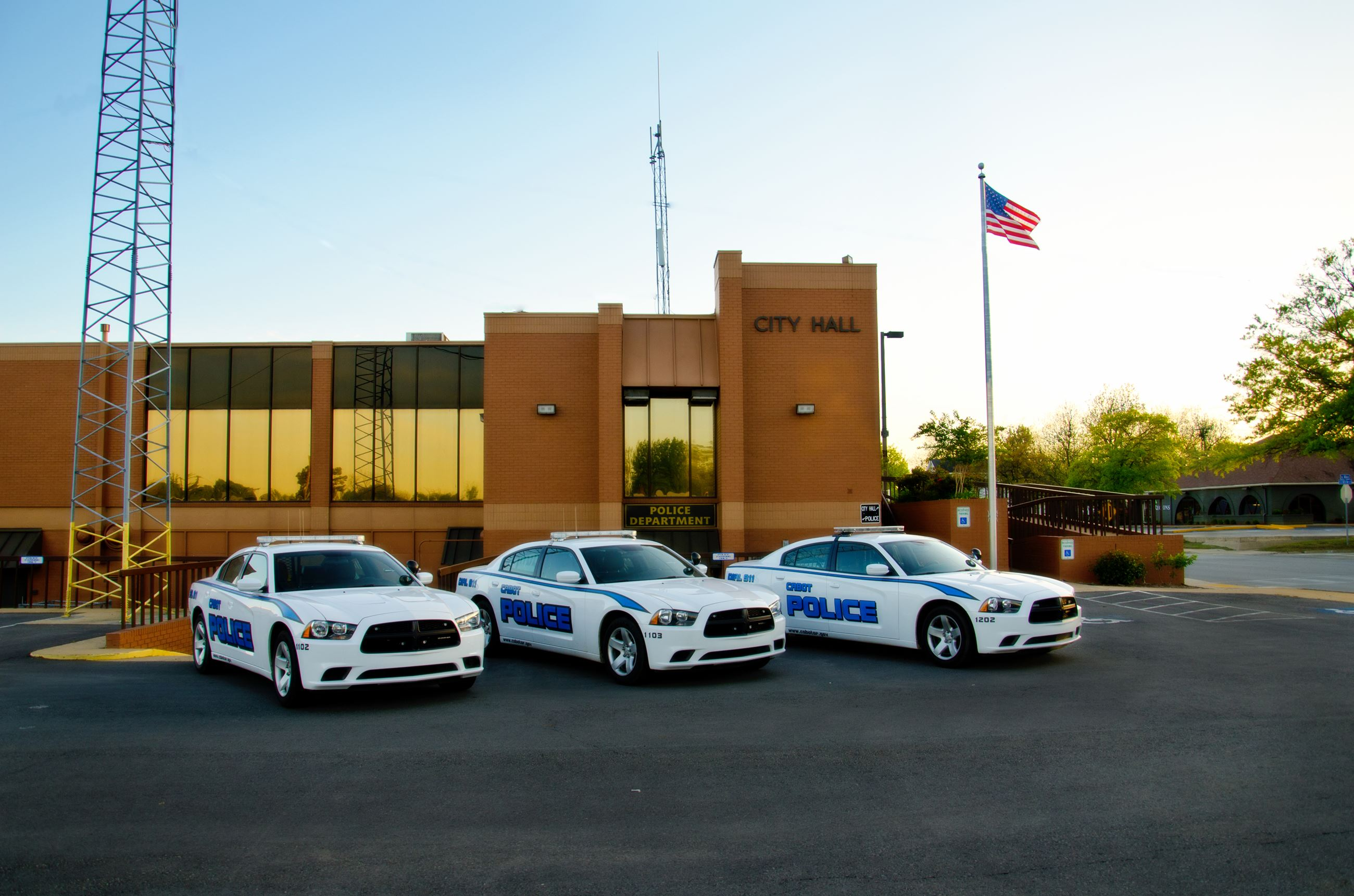Cabot Police Department Cars